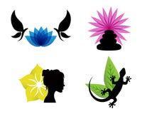 Icônes abstraites de station thermale illustration stock