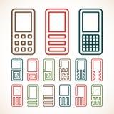 Icônes abstraites de téléphone portable Photos stock