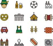 Icônes allemandes Images stock