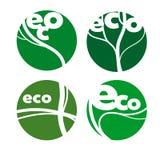Icônes amicales d'écologie Photographie stock libre de droits