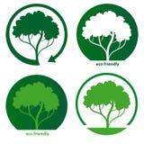 Icônes amicales d'écologie Photo stock