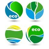 Icônes amicales d'écologie Photos stock
