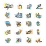 Icônes audacieuses d'affaires et de Web Images stock