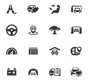 Icônes automatiques réglées images stock