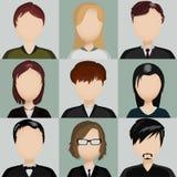 Icônes avec des personnes Photographie stock libre de droits