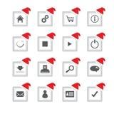 icônes avec la conception de Noël Images libres de droits
