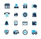 Icônes //Azure Series d'achats en ligne Photo stock