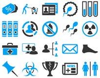 Icônes bicolores médicales illustration libre de droits