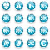 Icônes brillantes de Web de cercle réglées Image stock
