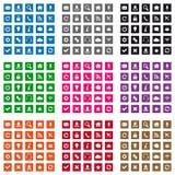 Icônes carrées de Web Photos stock