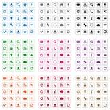 Icônes carrées de Web Images stock