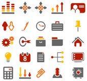 Icônes colorées d'affaires Images stock