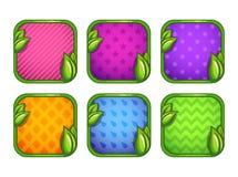 Icônes colorées d'APP avec différents modèles illustration de vecteur