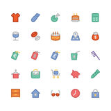 Icônes colorées de achat 11 de vecteur image stock