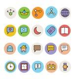Icônes colorées de base 1 de vecteur Photographie stock libre de droits