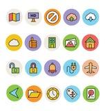 Icônes colorées de base 13 de vecteur Photos libres de droits