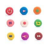 Icônes colorées de media Image stock