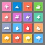 Icônes colorées de temps réglées