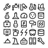 Icônes colorées industrielles 11 de vecteur Images libres de droits