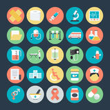 Icônes colorées médicales 1 de vecteur illustration libre de droits