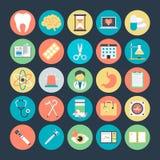 Icônes colorées médicales 3 de vecteur illustration stock