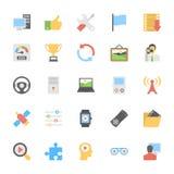 Icônes colorées par appartement 6 de multimédia Photo libre de droits