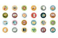 Icônes colorées par appartement financier 2 illustration de vecteur