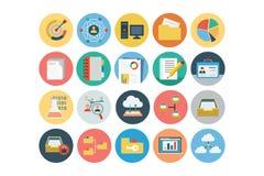 Icônes colorées par appartement universel 3 de Web Photos libres de droits