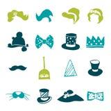 Icônes colorées par fantaisie Images libres de droits