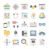 Icônes colorées par vente 10 de Seo et de Digital illustration de vecteur