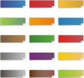 Icônes colorées vides d'autocollant Image libre de droits
