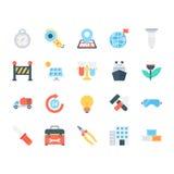 Icônes colorées industrielles 5 de vecteur Image stock