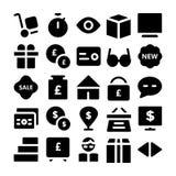 Icônes commerciales 2 de vecteur Photos libres de droits