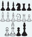 Icônes d'échecs illustration stock