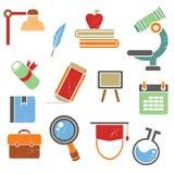 Icônes d'école Images stock