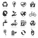 Icônes d'écologie réglées. illustration de vecteur
