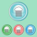 Icônes d'écologie réglées, ligne Art Style Images libres de droits