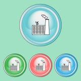 Icônes d'écologie réglées, ligne Art Style Image libre de droits