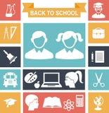 Icônes d'éducation Images libres de droits