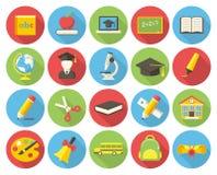 Icônes d'éducation Photos stock