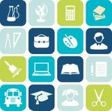 Icônes d'éducation Image stock