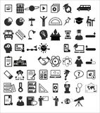 Icônes d'éducation Photo stock