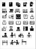 Icônes d'éducation Images stock