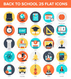 Icônes d'éducation Photographie stock libre de droits