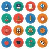 Icônes d'éducation Photos libres de droits