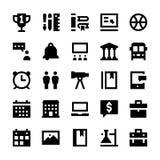 Icônes 10 d'éducation et de vecteur d'école Image stock