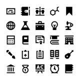 Icônes 8 d'éducation et de vecteur d'école Image stock
