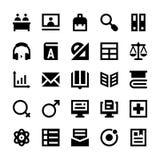 Icônes 7 d'éducation et de vecteur d'école Image libre de droits