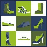 Icônes d'éléments de chaussures réglées Facilement édité Images stock