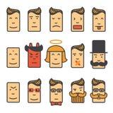 Icônes d'émotion réglées Image libre de droits